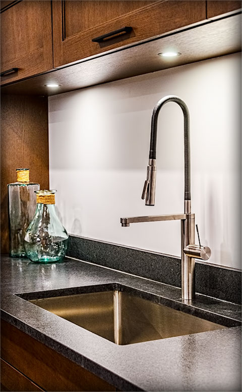 Photo of modern kitchen sink design.