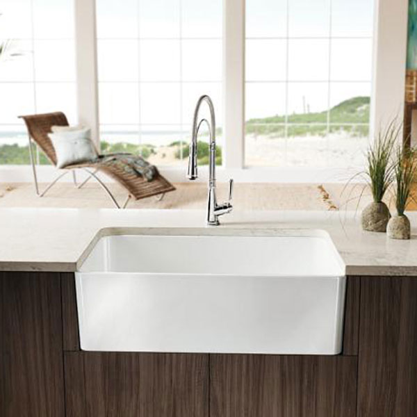 blanco bathroom sinks cerana apron front sink b k 12116