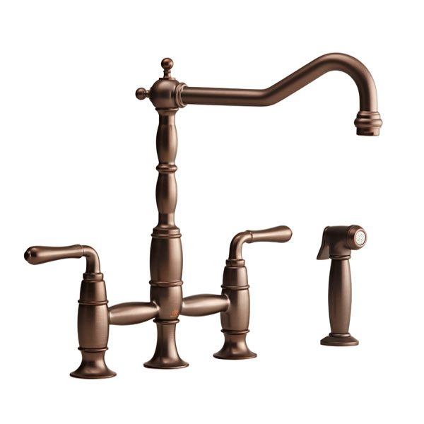 Victorian Widespread Kitchen Faucet with Side Spray