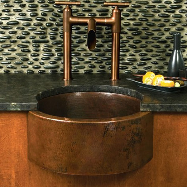 Fiesta Apron Front Hammered Copper Sink